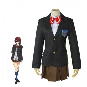 Black Cosplay Costume Gou Matsuoka Uniform With Red Bowknot