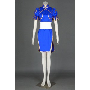 Street Fighter Chun-Li Blue Cosplay Costume