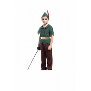 The Boy Who Wouldn't Grow Up Peter Pan Halloween Children Cosplay Costume