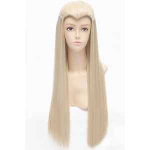 70cm Long Light Golden Straight The Lord Of The Rings Legolas Cosplay wig
