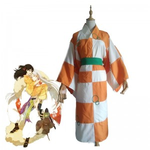 Inuyasha Rin Cosplay Costume Halloween Clothing