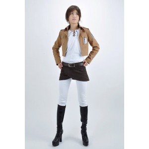 Attack On Titan Eren Jaeger The Recon Corps Uniform Cosplay Costume