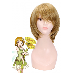 Love Live! Hanayo Koizumi Golden Short Cosplay Wigs Straight BOB Women Full Hair