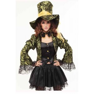 Alice in Wonderland Mad Hatter Cosplay Costume