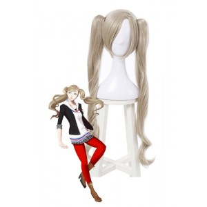 Anne Takamaki Long Yellow Women Cosplay Wigs