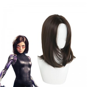Alita Battle Angel Alita Short Brown Wig Cosplay Wigs