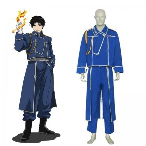 Anime FullMetal Alchemist Roy Mustang Military Cosplay Costumes