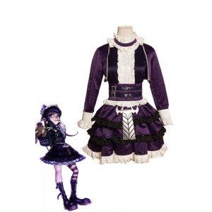 LOL Game Annie Purple Cosplay Costumes Dress