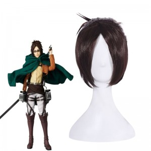 Attack On Titan Hanji Zoe Short Brown Cosplay Wigs