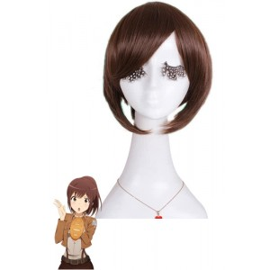 Attack On Titan Sasha Brown Blouse Clip On Ponytail Anime Cosplay Wigs