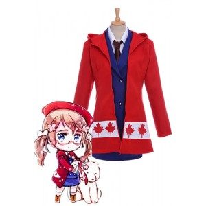 Axis Powers Hetalia APH Canada Cosplay Costume