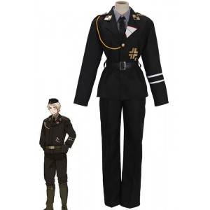 Axis Powers Hetalia APH Prussia Cospaly Army Costume