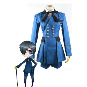 Black Butler Earl Ciel Phantomhive Blue Uniform Cosplay Costumes