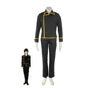 Black  Uniform Gintama Earthworks Fourteen Lang Cosplay Costume Shinsengumi