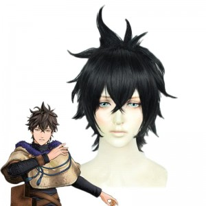 Black Clover Yuno Kurosurii Black Straight Cosplay Wigs