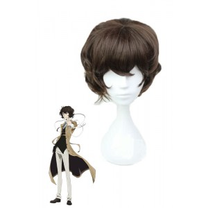 Bungo Stray Dogs Osamu Dazai Brown Synthetic Anime Cosplay Wigs