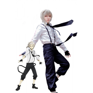 Bungou Stray Dogs Atsushi Nakajima Cosplay Costumes With White Shirt And Black Pants