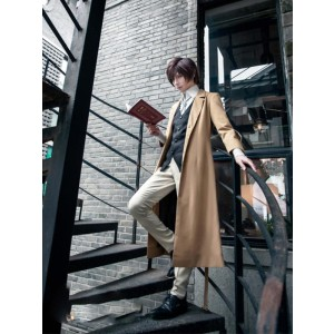 Bungou Stray Dogs Osamu Dazai Anime Detective Cosplay Costumes