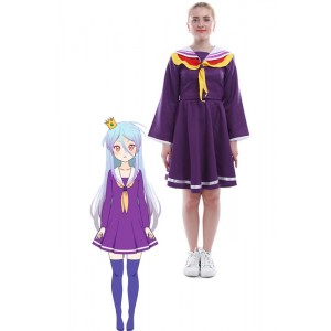 No Game NO Life Shiro Japanese Sailor Suit Cosplay Costumes