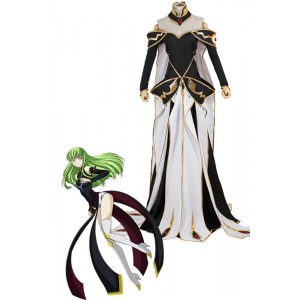 Code Geass C.C. Queen Dress Anime Cosplay Costume