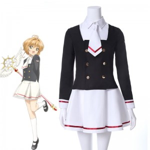 Cardcaptor Sakura Clear Card Anime Cosplay Costume Tomoyo School Uniform Cosplay
