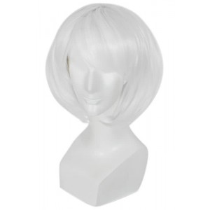 Fashion Short White BOB Cosplay Wigs Supple Hair