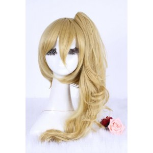 50cm long gold Winry Rockbell Full Metal Alchemist women girl Cosplay party hair wig