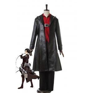 Attack On Titan Levi Black Cosplay Costumes