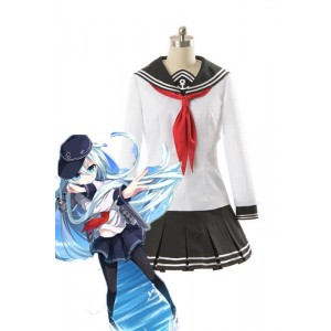Kantai Collection Cosplay Costume Custom Destroyers Akatsuki Hibiki Female Uniform