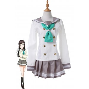 Love Live! Sunshine Aqours Kurosawa Dia Anime Girls School Uniform Cosplay Costume