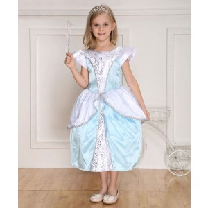 Blue Children's Halloween Party Costume Princess Dress