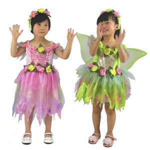 Cute Children's Halloween Costume Butterfly Beautiful Faery Princess Dress