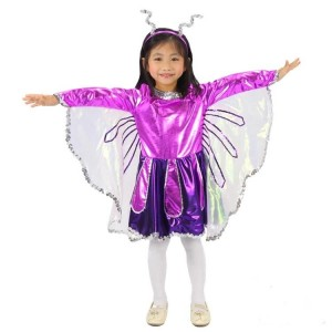Purple Children's Halloween Costume Butterfly Princess Dress