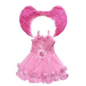 Beautiful Children's Halloween Party Costume Angel Wing Princess Dress
