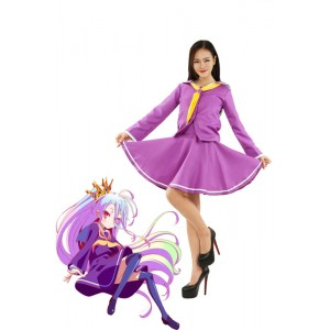 No Game NO Life Shiro Purple Sailor Cosplay Costumes