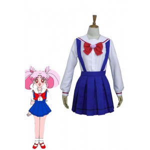Sailor Moon Chibi Usa Blue Uniform Anime Coaplay Dress Customized