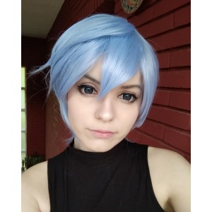 Ayanami Rei Short Light Blue Cosplay Wigs