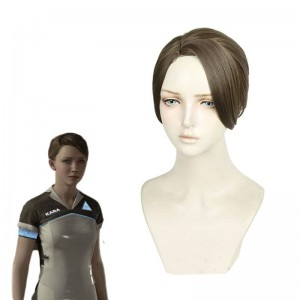 Detroit Become Human AX400 Kara Gold Brown Cosplay Wigs