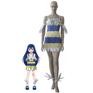 Fairy Tail Dragon Slayers Wendy Marvell Girl Dress Cosplay Costumes