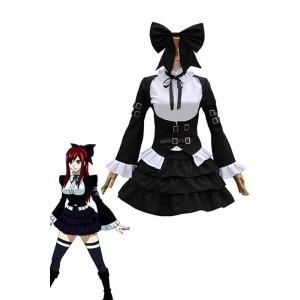 Fairy Tail Erza Scarlet Cosplay Costume Black Suit