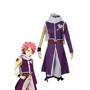 Fairy Tail Team Fairy Tail Natsu Dragneel Cosplay Costumes Purple Robe