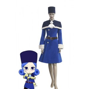 Fairy Tail Rain Woman Juvia Lockser Blue Lolita Dress Cosplay Costumes