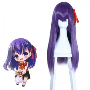 Fate/Stay night Sakura Matou Long straight Purple Cosplay Wigs