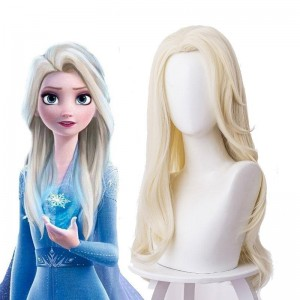 Film Elsa Blonde Long Cosplay Wigs