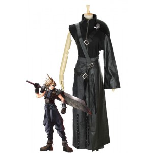 Final Fantasy 7 - Claude Black Suit Cosplay Costumes