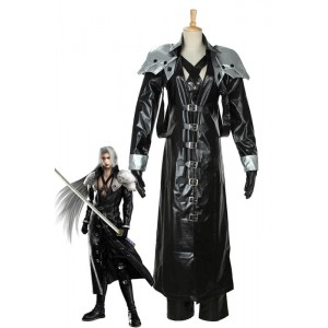 Final Fantasy VII 7 Sephiroth Cosplay Costume