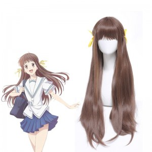 Fruits Basket HondaTooru Brown Long Cosplay Wigs