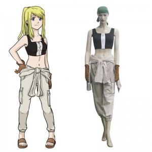 Fullmetal Alchemist Brotherhood Winry Rockbell Cosplay Costume Custom Made