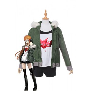 Futaba Sakura Persona 5 Brown Game Cosplay Costumes
