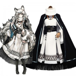 Game Arknights Kjerag Cosplay Costume